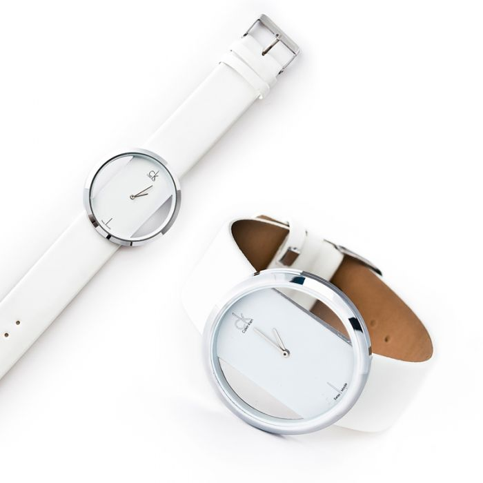 Часы кельвин кляйн белые женские