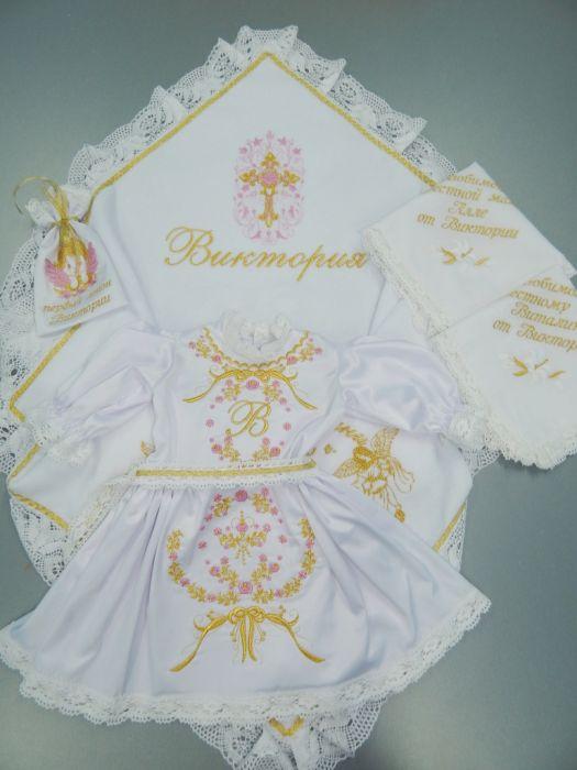 Именные крестильные наборы для малышей ВКонтакте 36
