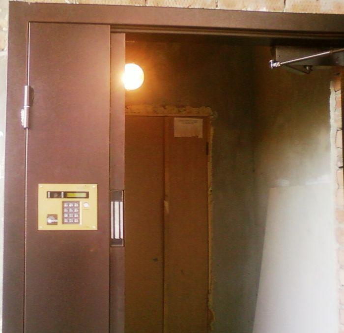 входные двери в подьезд с домофоном