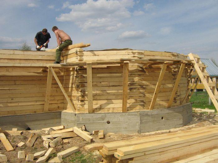 Строим дом из бруса своими руками от фундамента до крыши фото 9