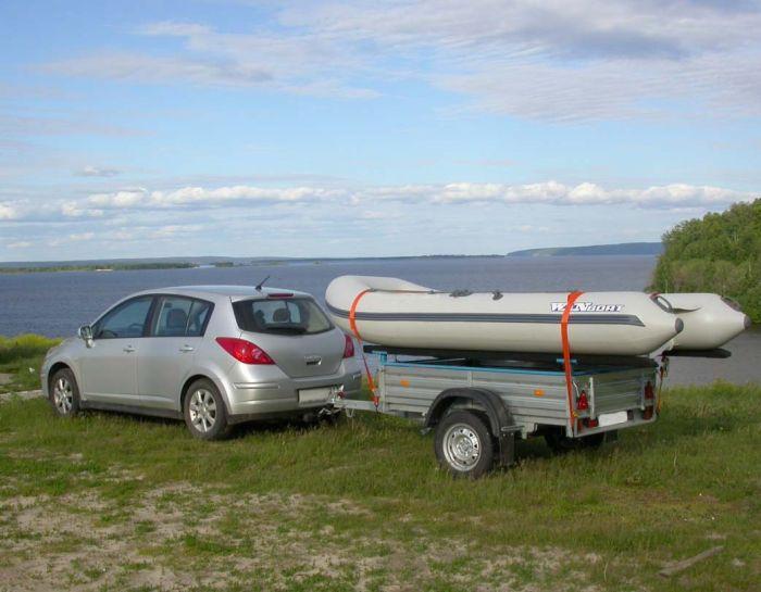 прицеп к легковому автомобилю для лодок пвх