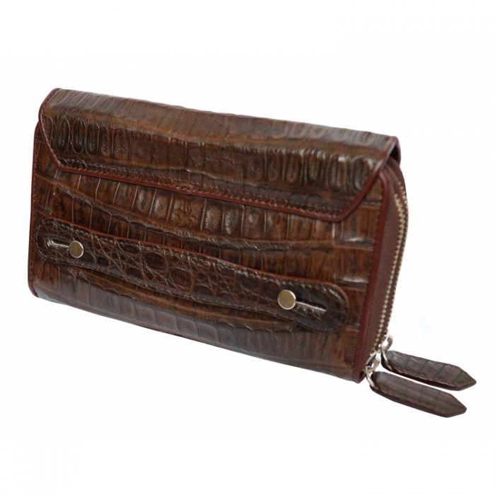 724a6c7a0243 Барсетка из кожи крокодила ARM 031 коричневая купить, цена: 15000.00 ...