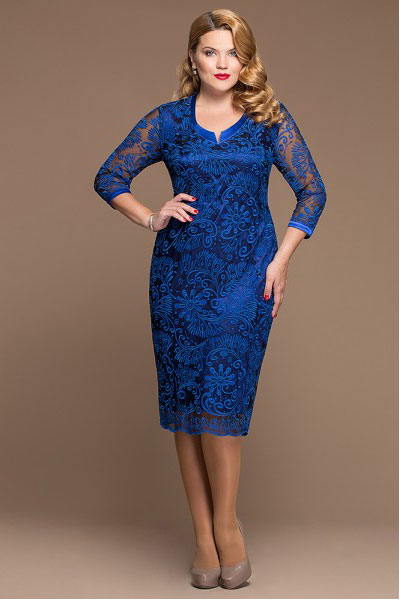 Платье Бархатное Синее Купить В