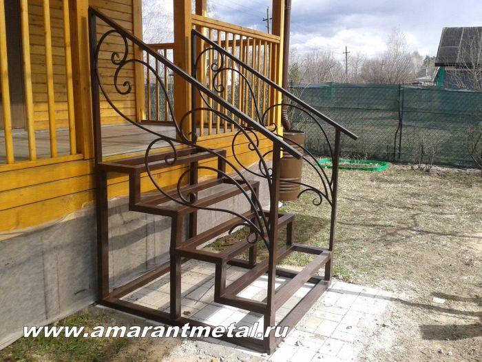 Лестницы из металла на веранду своими руками 39